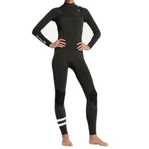 NWT Women's Hurley Advantage 3/2 Wetsuit Size 6 Full Suit Gray White GFS0000160