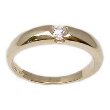 Fedina anello in oro giallo 18 kt con diamante brillante fede donna fidanzamento