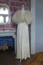 Jenny Packham Gatsby Vintage Brautkleid 20er Feder ivory weiß UK12 dt 36 neu