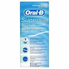 ORAL B Superfloss, Pre-Cut Strands, Super Dental Floss for Braces & Bridges, NEW