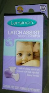 Lansinoh LatchAssist Nipple Everter Latch Assist Inverter 2 Flange Sizes
