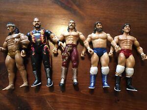 WWE Jakks Pacific Classic Superstars Action Figure Lot of 5 Vintage (Lot B)