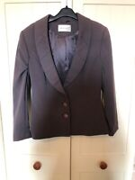 MINUET Ladies Pale Brown Fitted Smart Tailored Classic Blazer Jacket UK Size 8