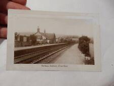 More details for elvanfoot lanarkshire vintage postcard  railway station  rail  rp
