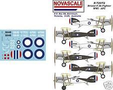AFC Bristol F2b Fighter WWI Decals 1/72 Scale N72072