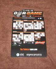 NEW NBA SAN ANTONIO SPURS 2012-2013 BASKETBALL SEASON SCHEDULE CALENDAR MAGNET 1