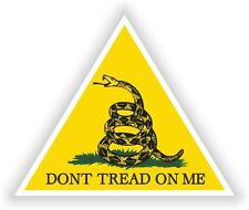 Yellow Triangle Vinyl Sticker Don't Tread On Me Gadsden decal Liberty Or Death