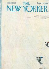1964 New Yorker Magazine COVER ONLY Abe Birnbaum Art Downhill Snow Skiing Frame