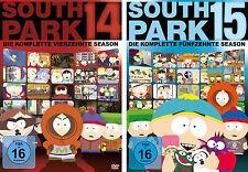 6 DVDs  * SOUTH PARK - STAFFEL / SEASON 14 + 15 IM SET # NEU OVP +