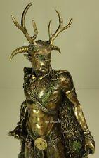 CERNUNNOS CELTIC POLYTHEISM HORNED GOD  Statue Sculpture Antique Bronze Finish
