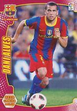 N°039 DANI ALVES # BRAZIL FC.BARCELONA CARD PANINI MEGA CRACKS LIGA 2012