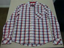 034 MENS PAUL FRANK RED CHECK L/S SHIRT SZE XL NWOT, $180 RRP.