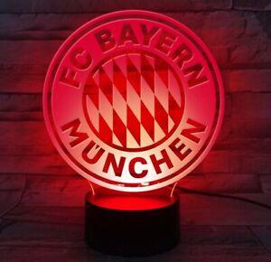 LED Lampe Leuchte im Trikot Design Logo FC Bayern München NEU! OVP!