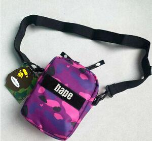 2020 Bape Men Women Classic Camo  Waist Bag Shoulder Crossbody Travel Bag!