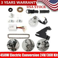 450W Electric Conversion 24V/36V Kit Common Bike Left Chain Drive Custom DIY NEW