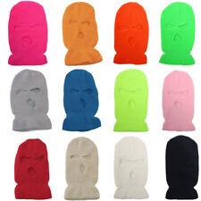 3 Hole Full Face Mask Ski Mask pink Winter Cap Balaclava  Beanie Tactical Hat