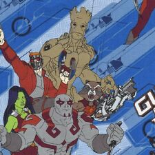 Marvel Guardians Of The Galaxy Collective Fabric Blue Groot Rocket Characters FQ