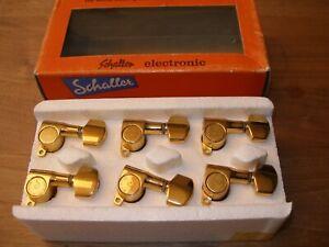Schaller Mechaniken M 6 L Gold mini Tuners E-Gitarre Stratocaster