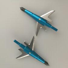 12pcs 100grain Swhacker Arrow Points Broadheads Blue Archery Hunting Arrowheads