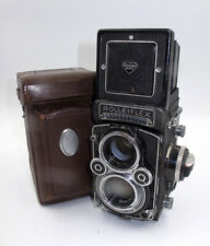 *BEAUTY* ROLLEI ROLLEIFLEX 3.5F TLR CAMERA W/ZEISS PLANAR 75MM LENS & CASES.