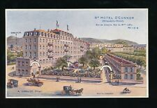France French Riviera NICE Gd Hotel O'Connor c1900s advert PPC