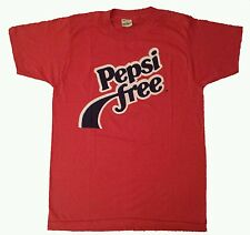 Rare Vintage New Old Stock 80'S Pepsi Free Promo Advertisement Red T-Shirt *M/S