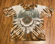 Vintage All Over Print Hawk Tie Dye T-shirt, Native American, XL,Single Stitch