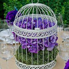 Classic Round Decorative Ivory Birdcage Wedding Reception Gift Card Box