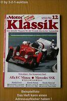 Motor Klassik 12/85 MGB DB SSK Alfa Goggo Guzzi