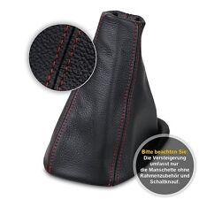 Schaltsack Schaltmanschette für Opel Corsa D 2006-2012 Echtes Leder rote Faden