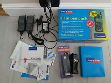 Motorola Graphite 2x Vintage Mobile Phones and Charger one 2 one boxed