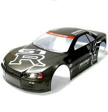 H020G 1/10 scale Drift Sur Route Touring Car Body Cover Shell RC noir spoiler