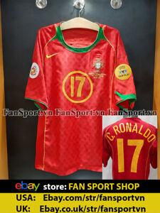 Ronaldo 17 Portugal Euro Final 2004 home shirt jersey 2005 2006 original rare