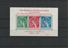 """Berlin Block 1 gestempelt """"Witten 1950"""" ungeprüft, eventuell Falschstempel  -B39"""