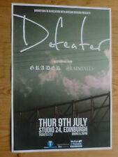 Defeater + Grader, Rainfalls - Edinburgh july 2015 tour concert gig poster