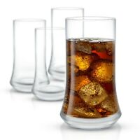 JoyJolt Cosmos Crystal 18.5 oz Drinking Glasses, Set of 4 Highball Glasses