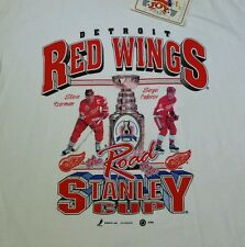 Detroit Red Wings T-Shirt Road to the Stanley Cup 1996 Yzerman Fedorov Mens XL