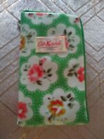 Cath Kidston Small Purse Wallet Phone Case Green Floral With Strap New