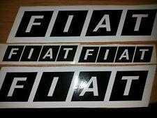 """serie ADESIVI  trattore, auto, moto, trucks, bike """" FIAT """" nero/bianco 36X9-19X5"""