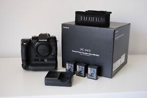 Fujifilm x-h1 with battery grip, box, accessories and low shutter count
