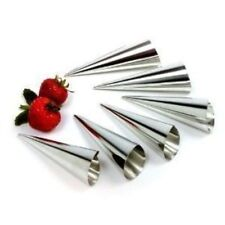 Norpro Stainless Steel Cream Horn Pastry Cone Moulds Set of 6 Np3661 N