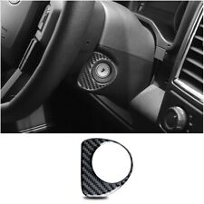 Carbon Fiber Ignition Switch Start Button Frame Trim Fit For Ford F150 2015-2019