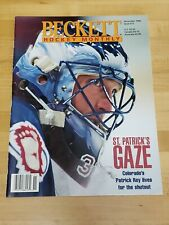Patrick Roy Cover Beckett Hockey Monthly November 1996 World Cup Champ Issue #73