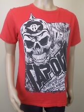 Tapout Skull Emblem Red MMA Short Sleeve T-Shirt Top Tee - Mens Size Small