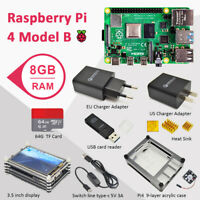 Raspberry Pi 4 8GB RAM Complete kit with 3.5 inch display case 64GB SD card