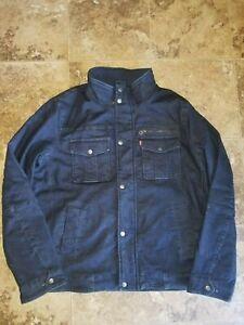 Mens Levi Strauss Levi's Denim Jacket Coat Dark Wash Blue Medium M Large L