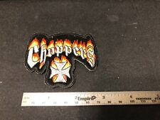 CHOPPERS Die-Cut Patch Iron Cross  NEW * Additional patches ship FREE * Iron On