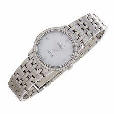 Omega DeVille MOP Factory Diamonds Stainless Swiss quartz ladies fine watch