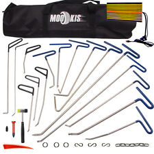 Auto PDR Tools Paintless Hail Dent Puller Rods Removal Tap Hammer Repair Kit+Bag