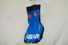 Team Garmin Sharp Castelli Aero Shoecover 3.1 Medium Black Blue Cycling